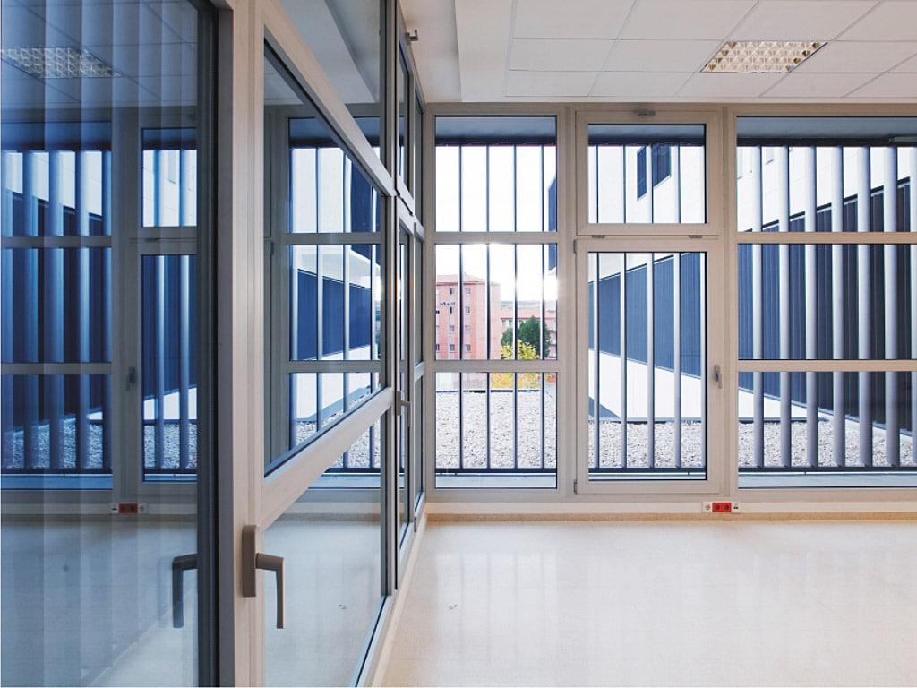 Aluminium hinged doors cor-60 zenaluminium