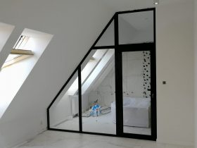 Ścianka loftowa ze skosem