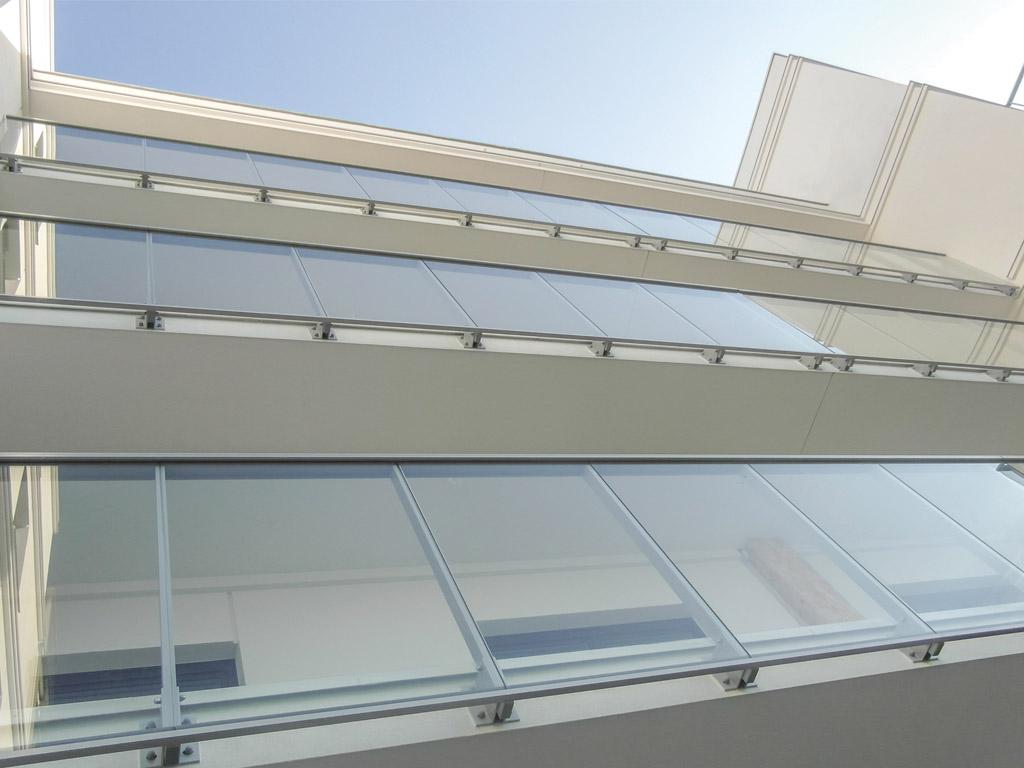 Balustrady całoszklane Copal aluminiowe