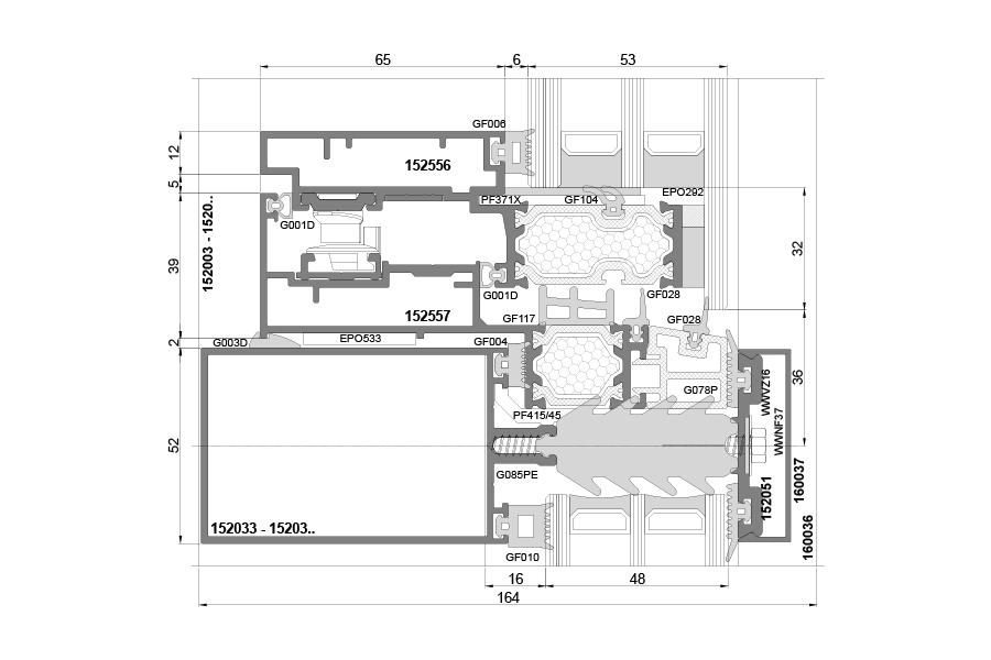 pf 152 fasada aluminiowa