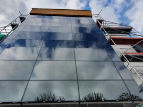 szklana aluminiowa fasada