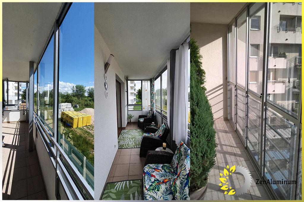trzy realizacje zabudowy balkonow i tarasow