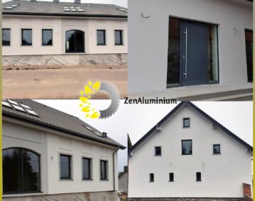 Domek w Załężu pod Szczecinem stolarka aluminiowa